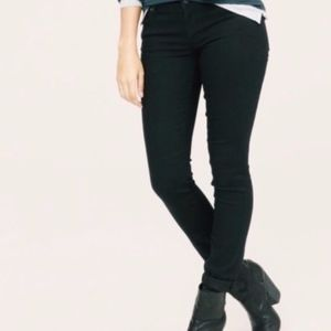 lou & grey | black skinny denim mid-rise jeans